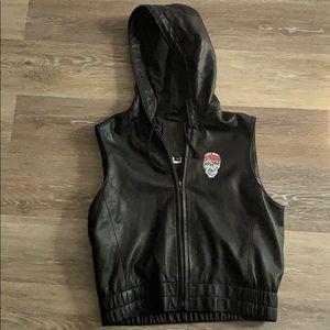 Simms Mike Reynold leather vest Sz M